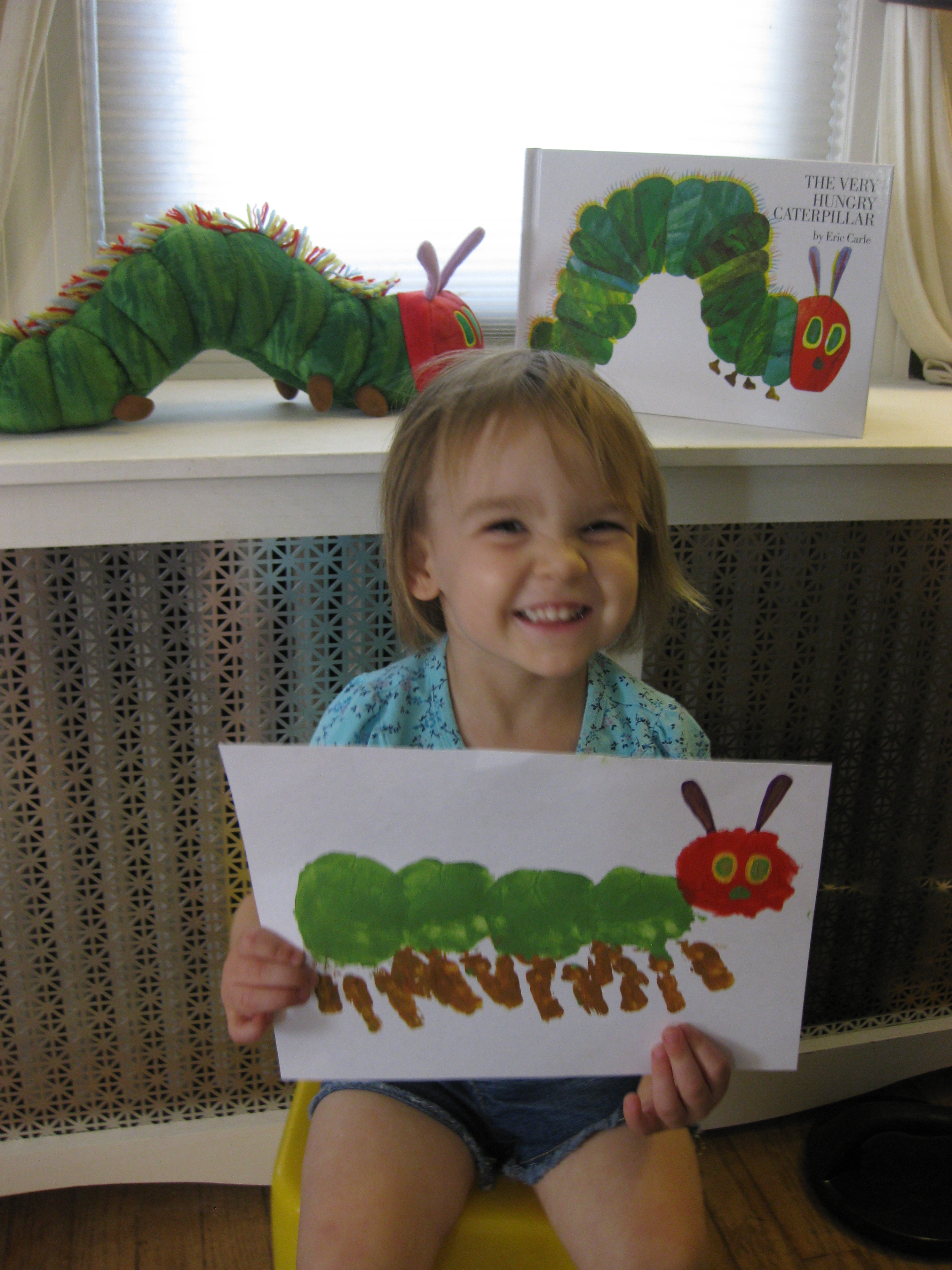 Create It Saturday A Very Hungry Caterpillar Of Your Own Ct