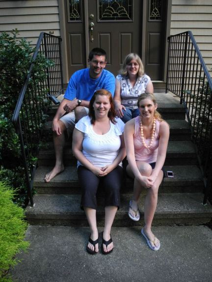 The last siblings on the front steps photo we took before the move.