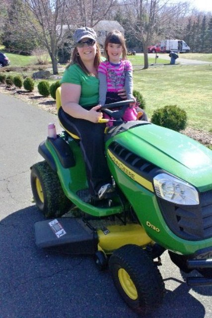Chicks dig a John Deere! Photo credit: K. Stevenson