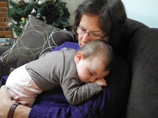 My mom and my daugther. Sweet snuggles.