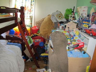 If your Man's room looks like this...YOU ARE SCREWED so hire a maid.