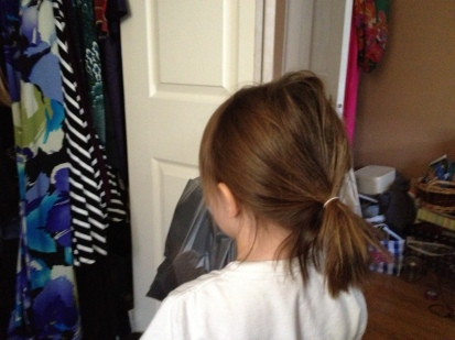 She did her hair all by herself! Yay?