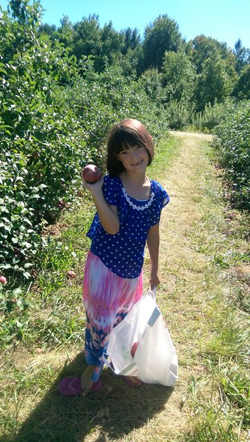 Forced myself to take her apple picking. Had a great time. #oneforthewincolumn Photo: K. Stevenson