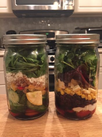 Quart-sized jars in action.